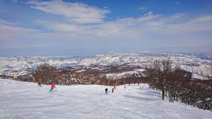 雪質と眺望を求めるなら山頂へ