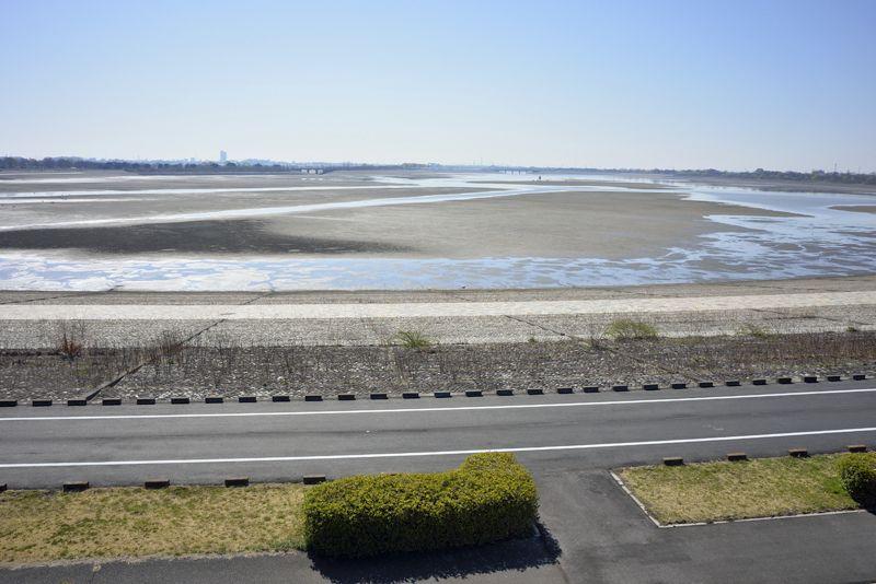 谷中湖が干上がった!? でも水不足ではありません