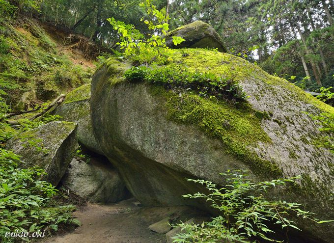 名草巨石群で最大の巨石・御供石