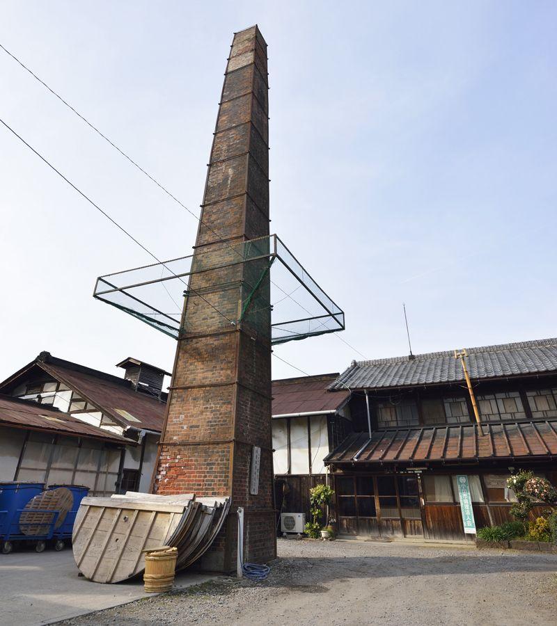 西堀酒造〜老舗に残る赤煉瓦の煙突