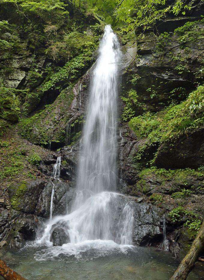 留春の滝〜箒川上流の秘境の景観