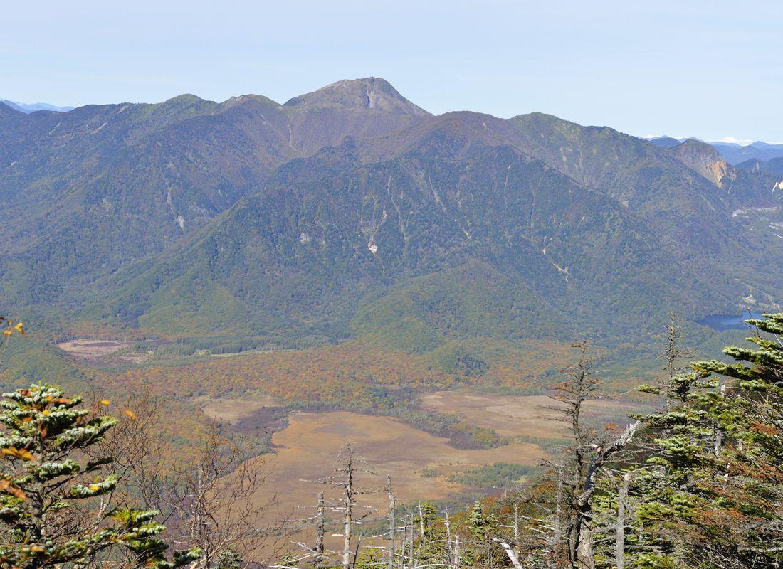 日光男体山の弥陀ヶ原〜頂上手前の展望地