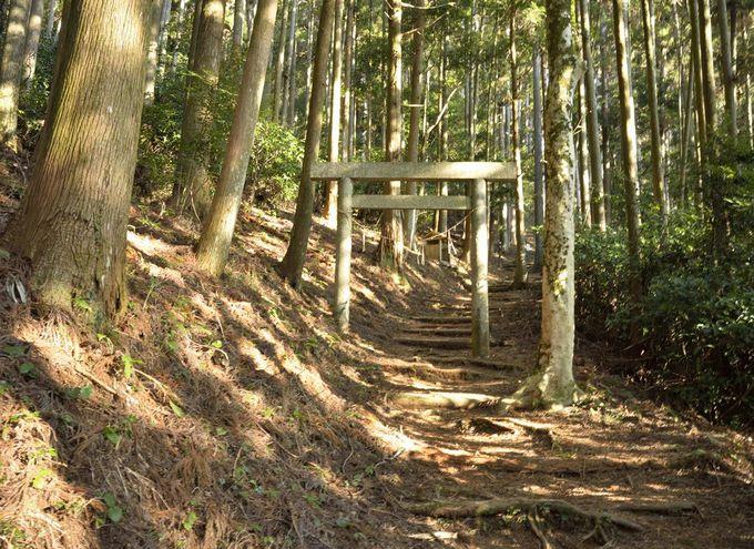 千葉山の山頂への案内