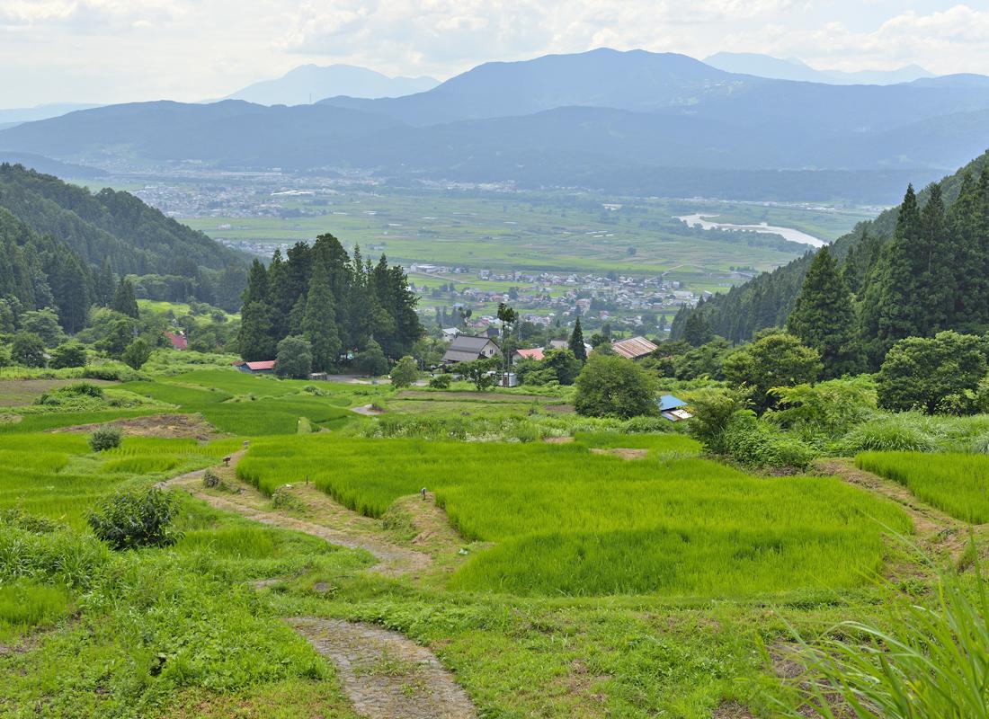 「福島の棚田」石垣の棚田と美しい里山の風景