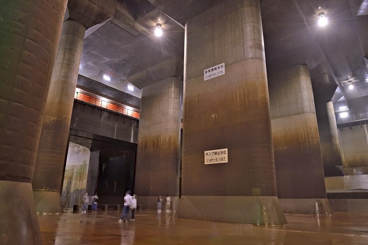 「調圧水槽」洪水を溜め込む地下の巨大プール