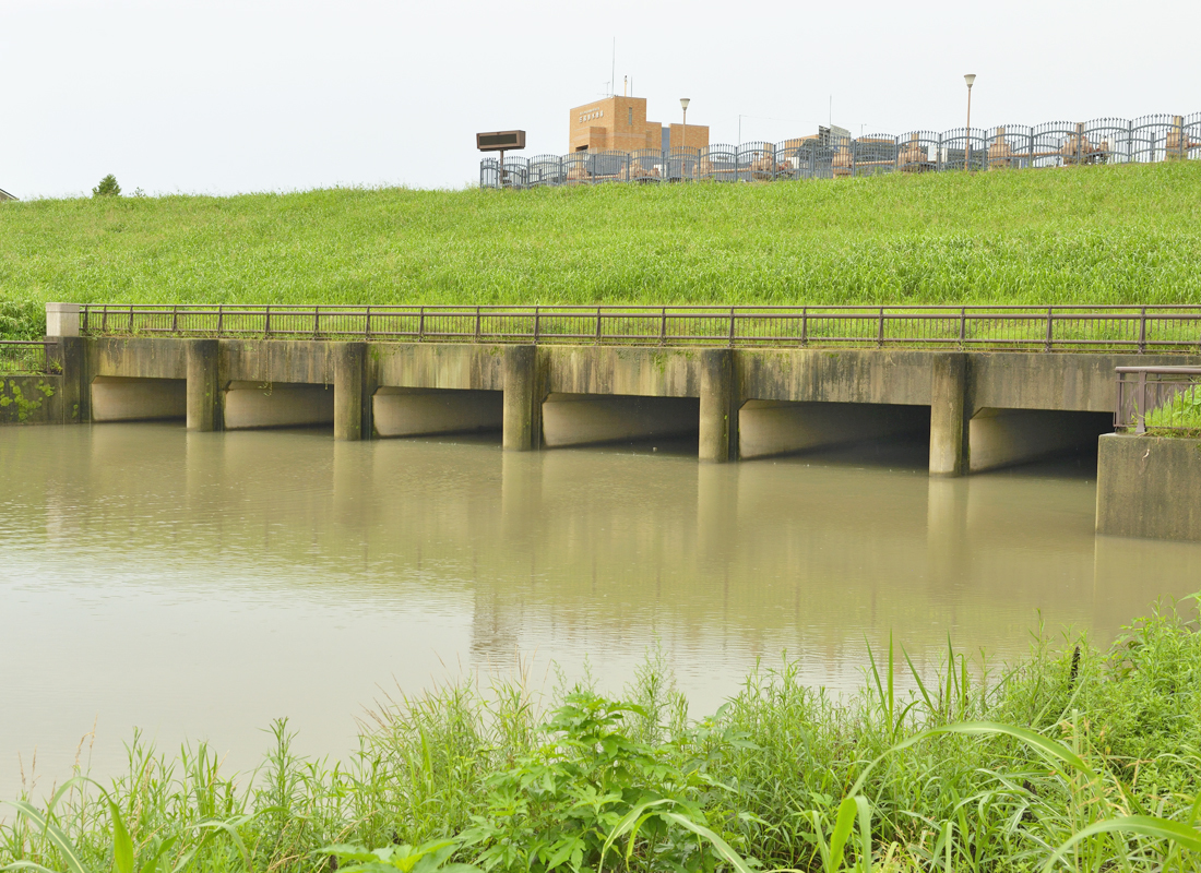 「排水樋管」首都圏外郭放水路の終点