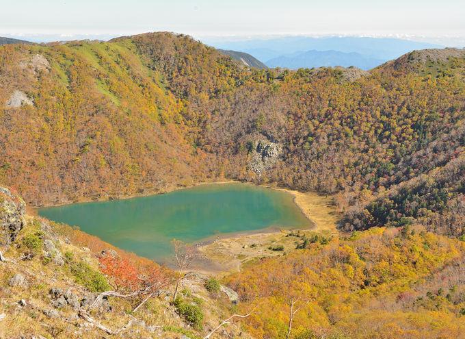 美しい五色沼に立寄る下山コース