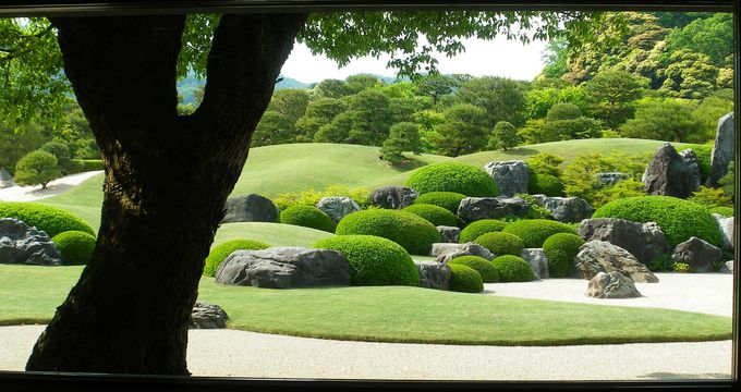 庭園も一幅の絵画として