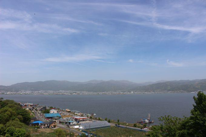 諏訪湖が一望できる「諏訪湖SA(サービスエリア)」