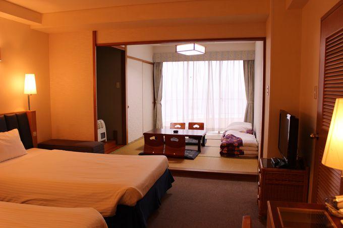 リゾートホテルで珍しい!和洋室の客室も