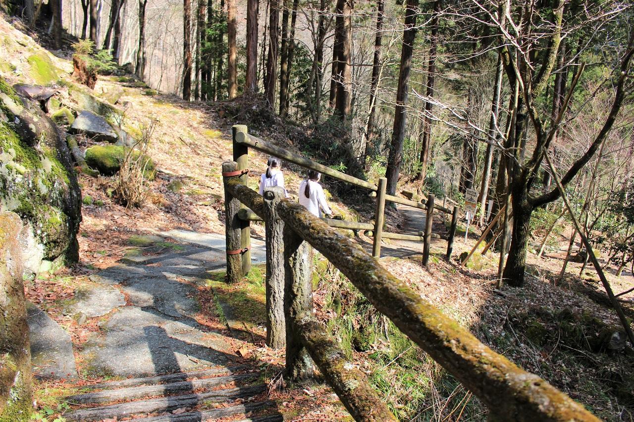 公園入り口から不動滝までは歩いて約10分!