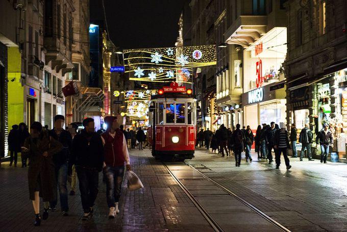 タクシム広場までは歩こう!