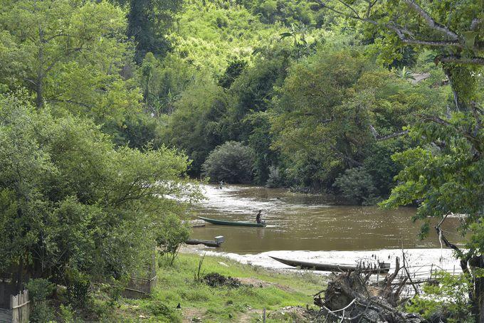 県内のあちこちで見られる自然豊かな川