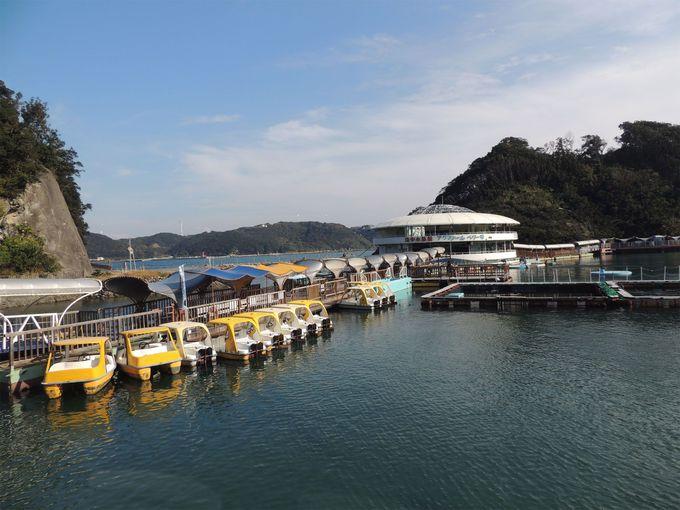 天然の入り江に浮かぶ水族館