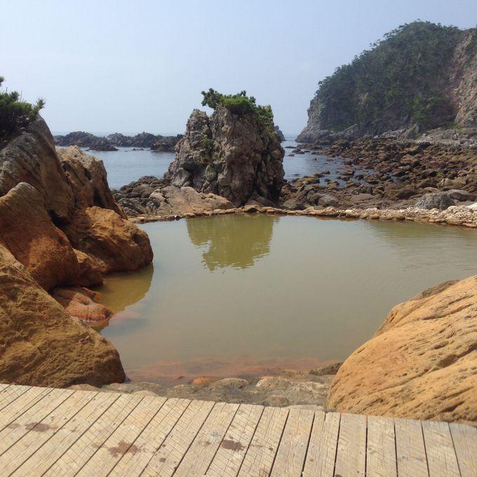 海が目前!大自然の中の温泉を満喫!