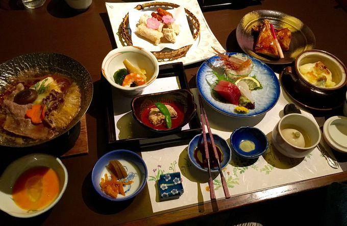 伊豆の新鮮な海鮮料理&地元の旬食材を使った和食会席膳の夕食