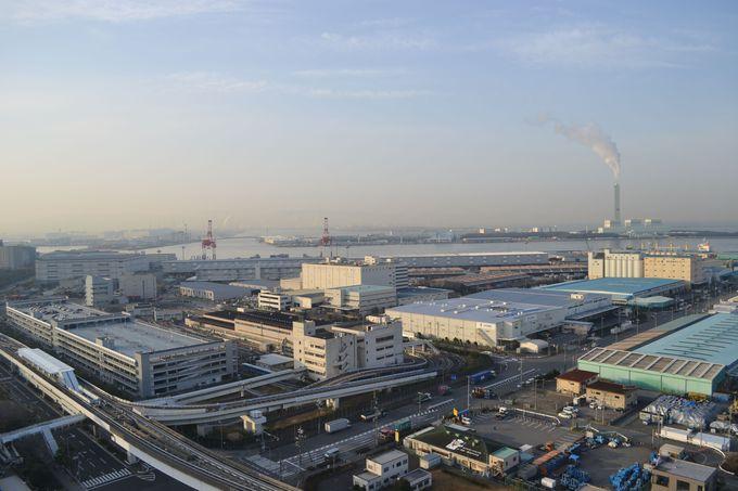 大阪のベイエリアの景色を堪能