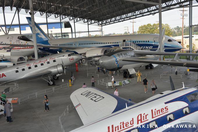 大統領専用機エアフォースワンや過去から現在の旅客機が展示