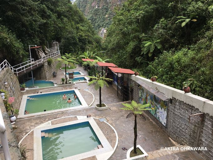 マチュピチュ村の天然温泉「Banos Termales」