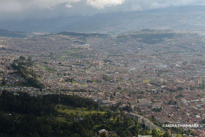 ボゴタ市内を一望できるモンセラーテの丘