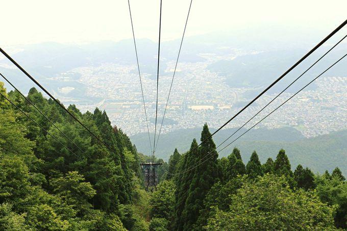 京都市内を見下ろす空中散歩