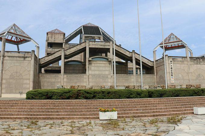「瀬戸大橋記念館」屋上展望台からのいちばん間近な眺め