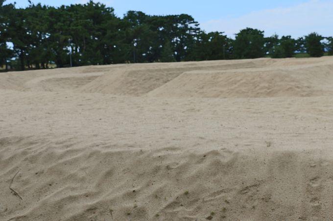 銭形の砂地のそばに降りてみる