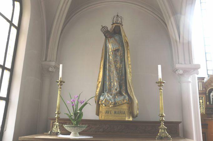 日本で唯一の「黒い聖母マリア」像
