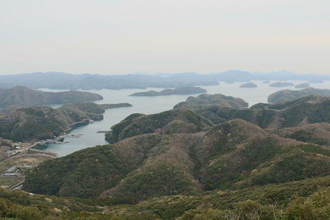 烏帽子岳展望所からの浮島のパノラマ