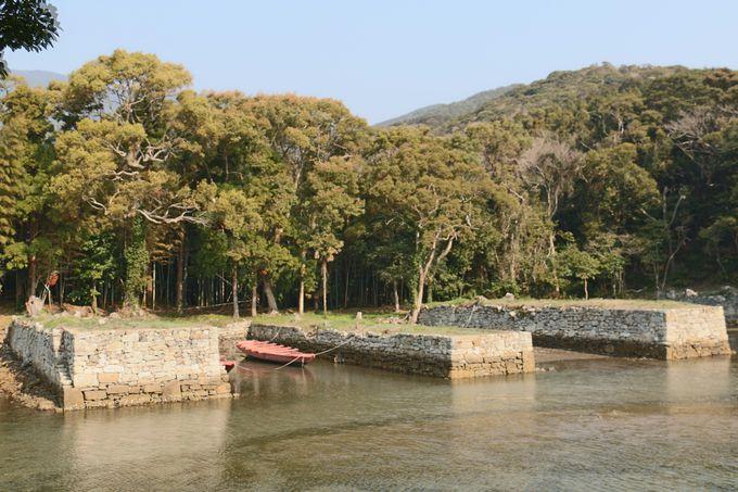 対馬藩 藩船の係留地跡「お船江跡」