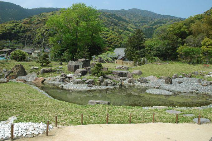 対馬藩の居城「金石城」櫓門と復活した庭園