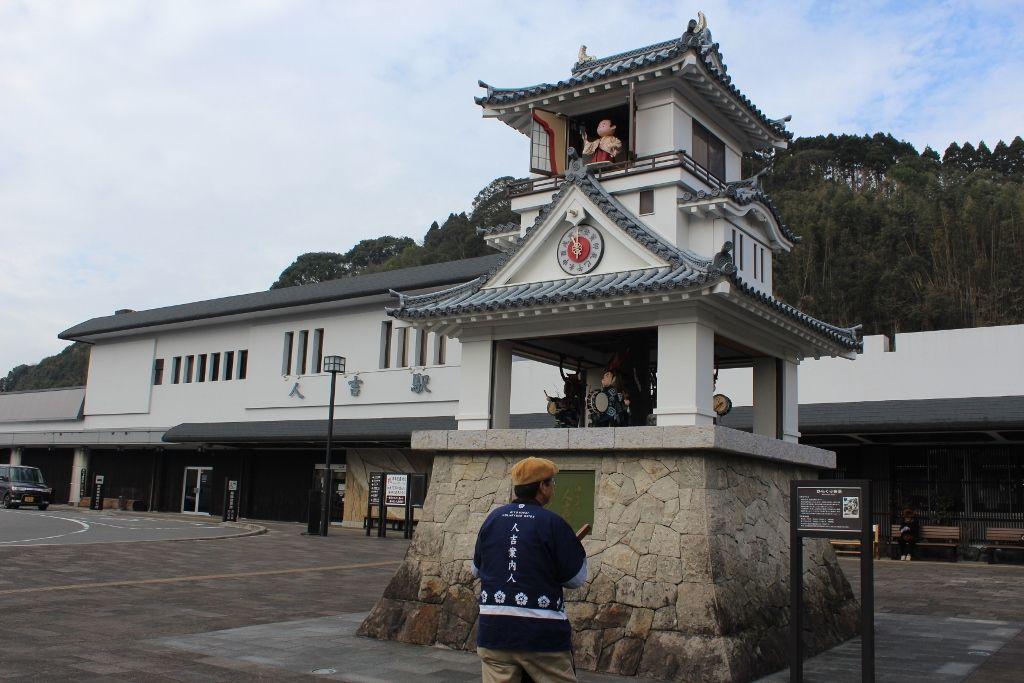 1.人吉駅前からくり時計