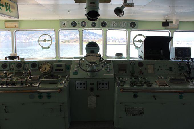 船長の気分になれる操舵室