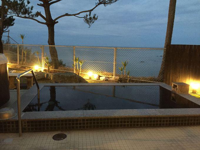 温泉浴場「湯どころ あったろう」からも広がる東シナ海
