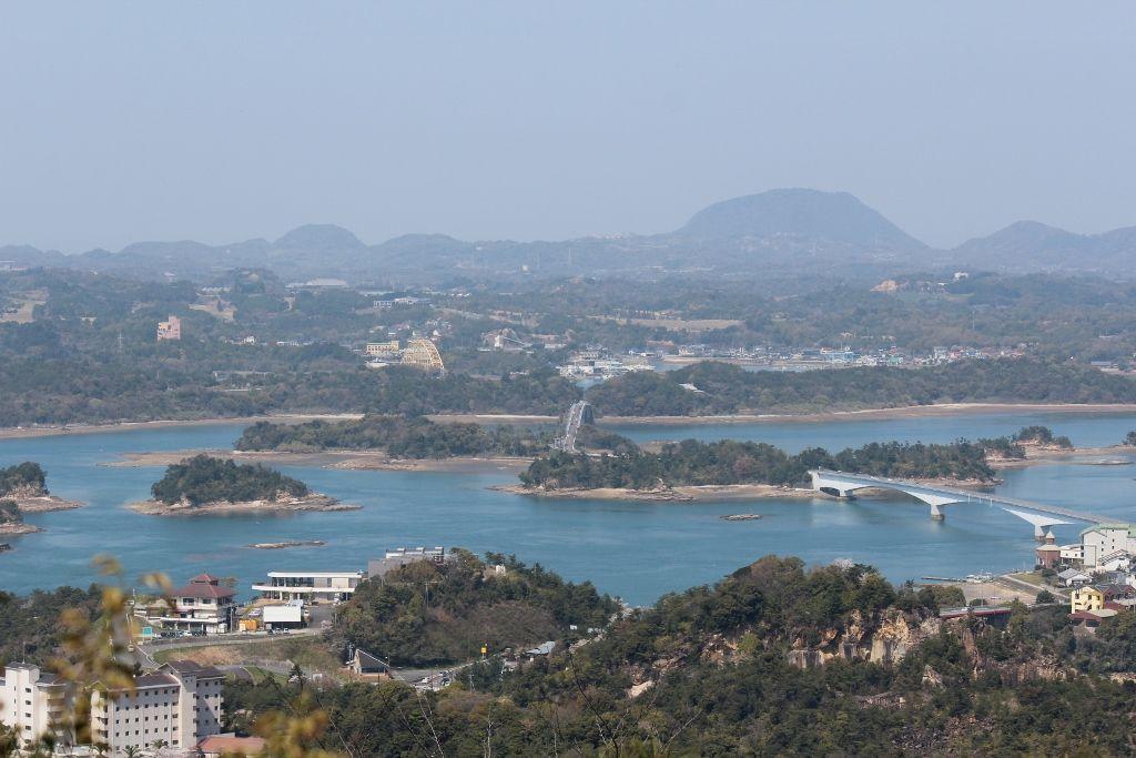 千巌山展望台から望む天草五橋