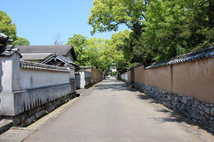 江戸時代の雰囲気を今に残す杵築武家屋敷通り