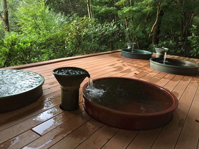 趣向を凝らした温泉施設「ペルラの湯舟」