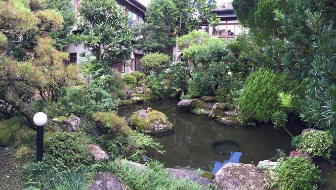 人吉の武家文化を表す見事な中庭