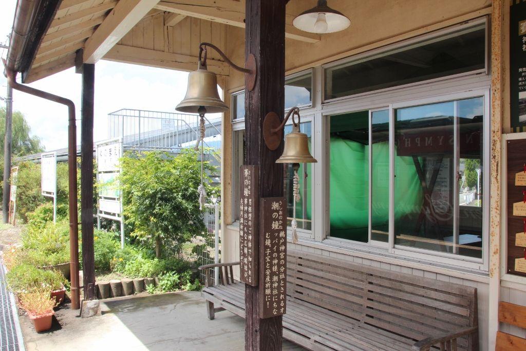 くまがわ鉄道唯一の木造駅舎で登録有形文化財の「湯前駅」