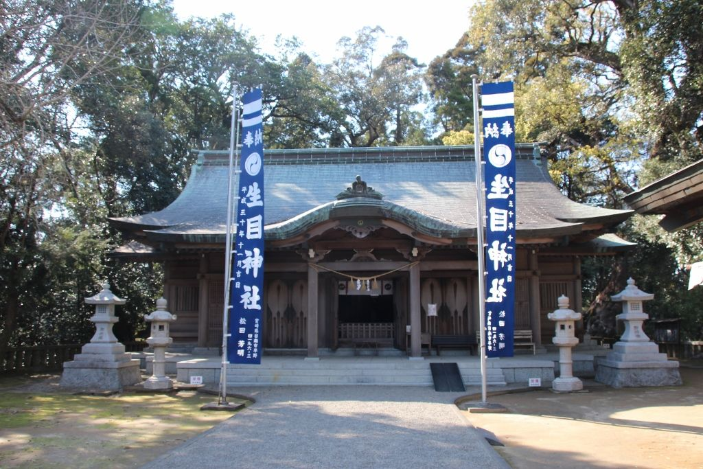 藤原景清の目が落ちた場所に建つ「生目神社」
