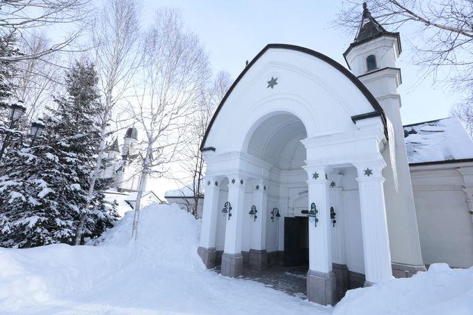 ヨーロッパの古城を思わせる旭川「雪の美術館」