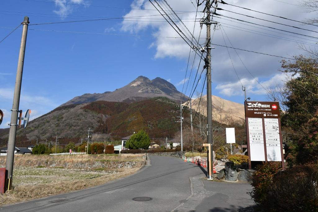 由布岳を一望できる場所に建つ「開花亭」