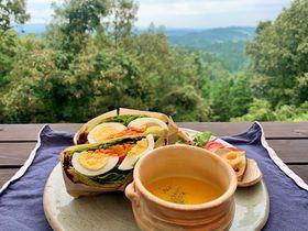 熊本・山都町「みずたまカフェ」のテラスで楽しむ阿蘇の絶景