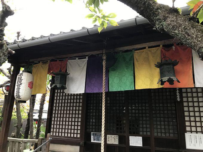 隠れた桜の名所でもある「雨宝院」