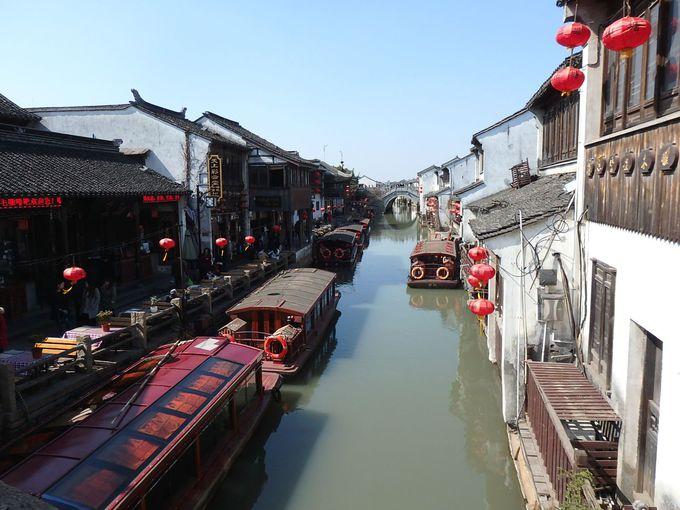 人気の「山塘街」で運河沿い散策&ランチ