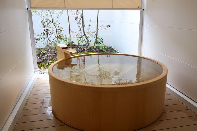 充実のプレミアルームは露天風呂付き