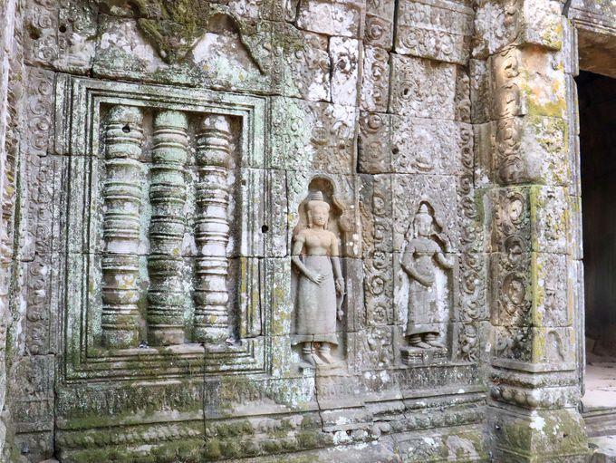 人が少ない遺跡でじっくり見たい、美しい彫刻たち