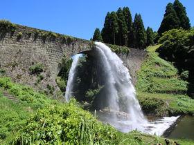 熊本地震からついに復興!江戸の石橋「通潤橋」放水再開