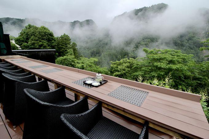 小耶馬溪の絶景が目の前!「朝もやテラス」の朝食