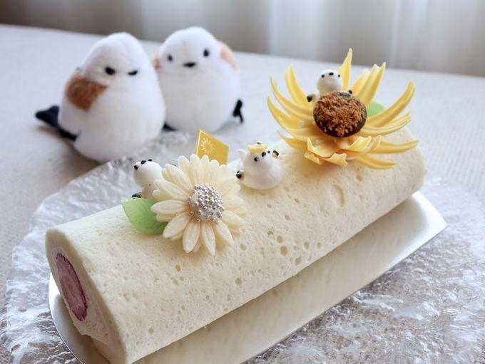 かわいすぎて食べられない?!シマエナガロールケーキ